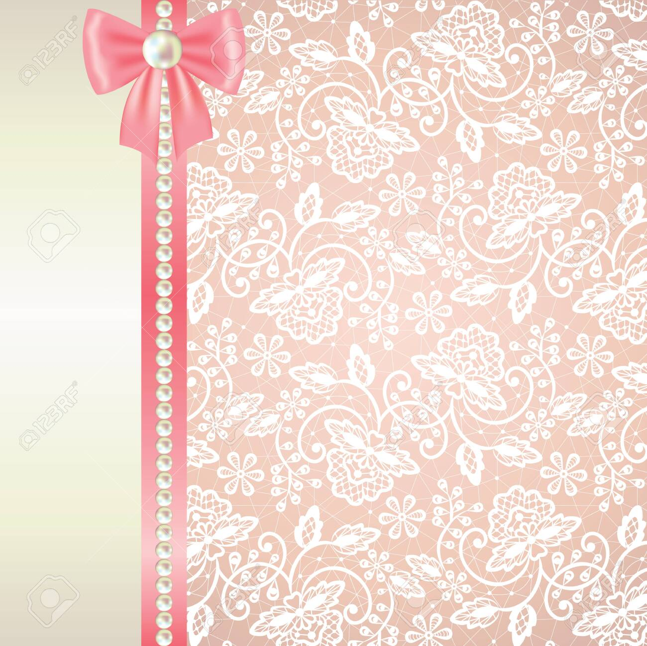 Wedding Or Baby Shower Invitation Or Greeting Card With White Royalty Free Cliparts Vectors And Stock Illustration Image 30312912