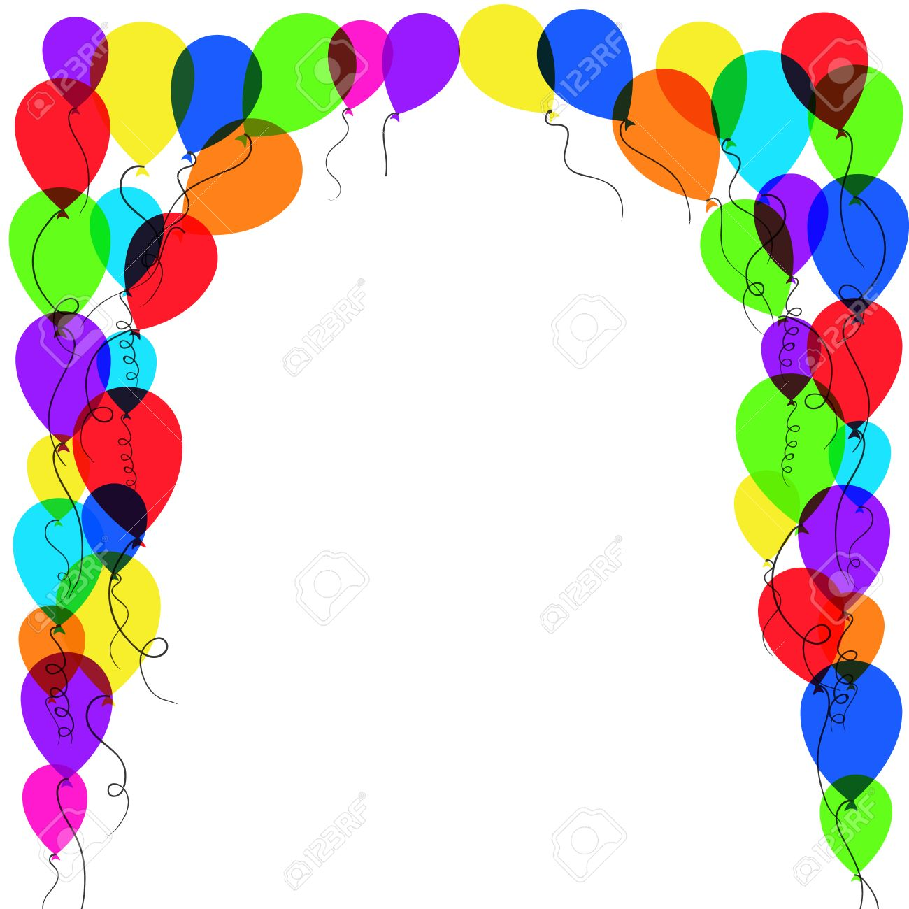 balloon frame holiday background with balloon frame vector illustration