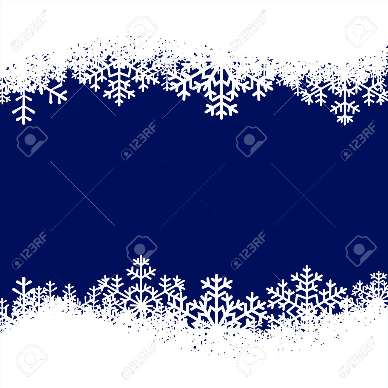 V card background images - Christmas Card With Snowflakes Border On Blue Background Stock Vector 33879983