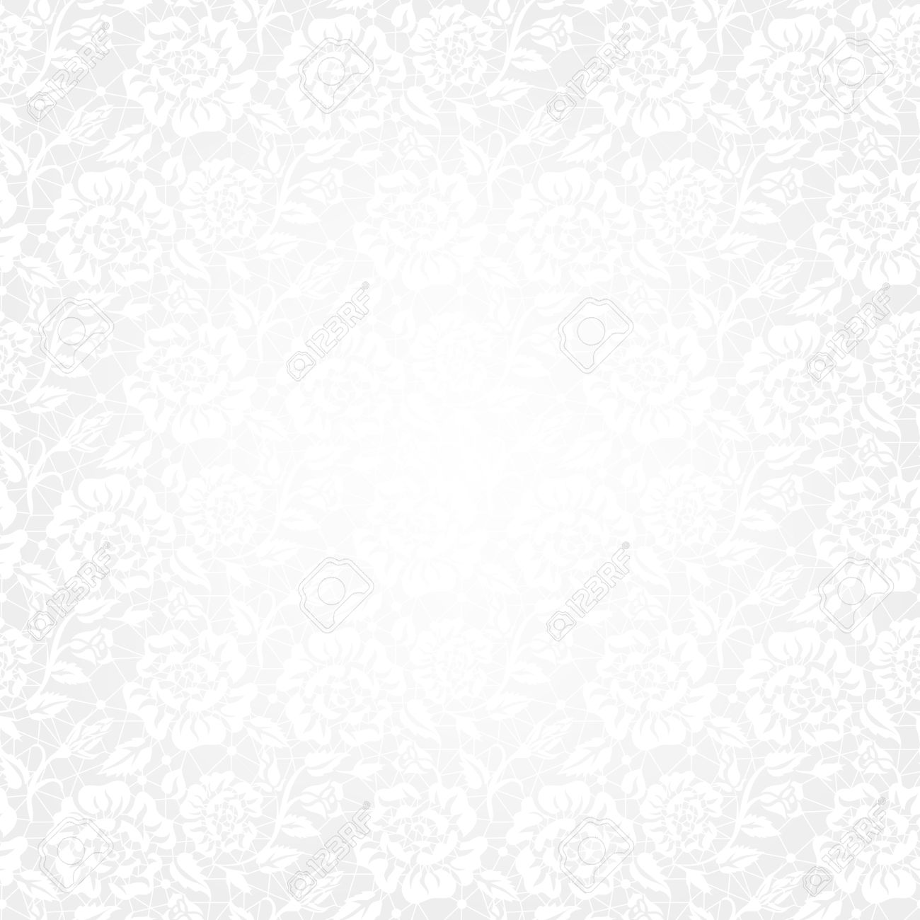Template For Wedding, Invitation Or Greeting Card With White ...
