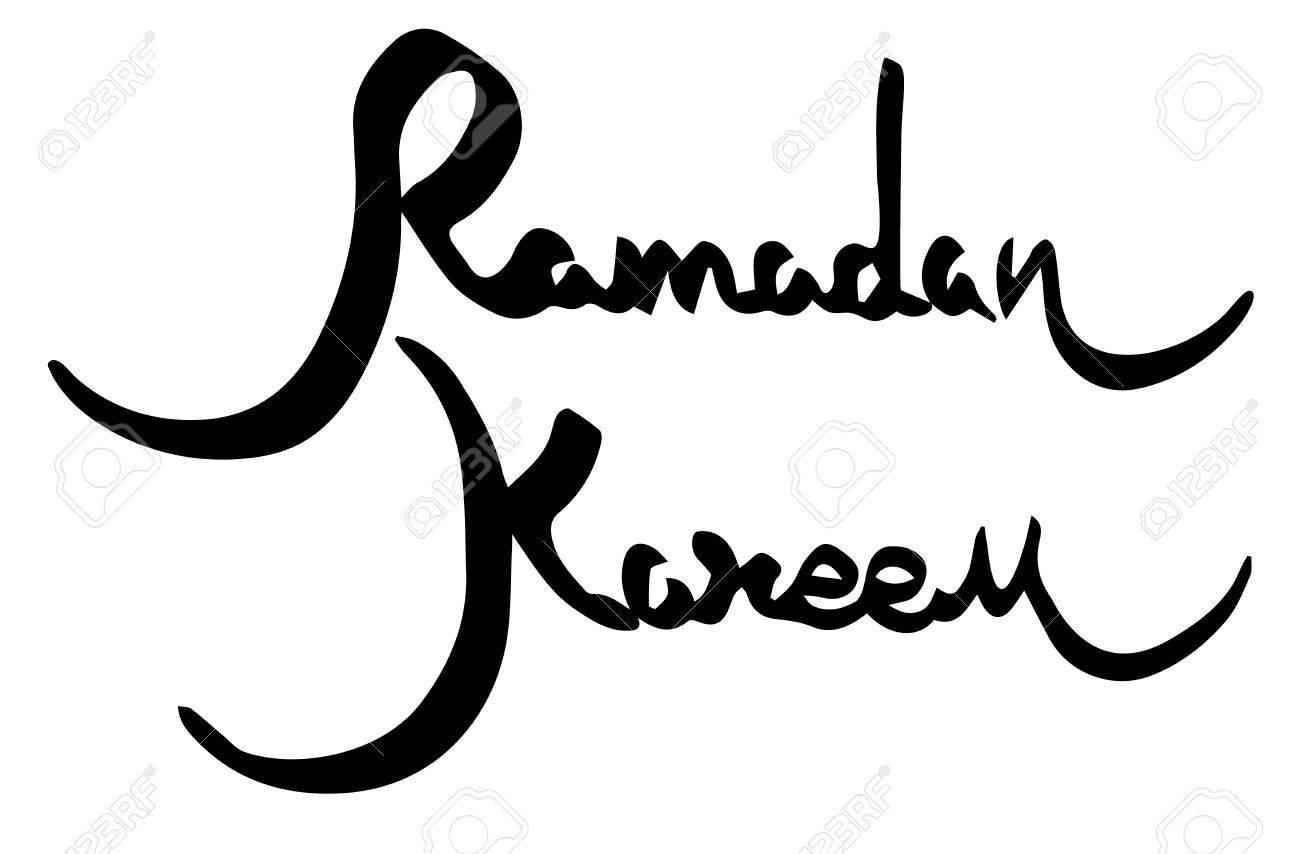 Ramadan kareem muslim holiday greetings handwritten lettering ramadan kareem muslim holiday greetings handwritten lettering stock vector 41788147 m4hsunfo