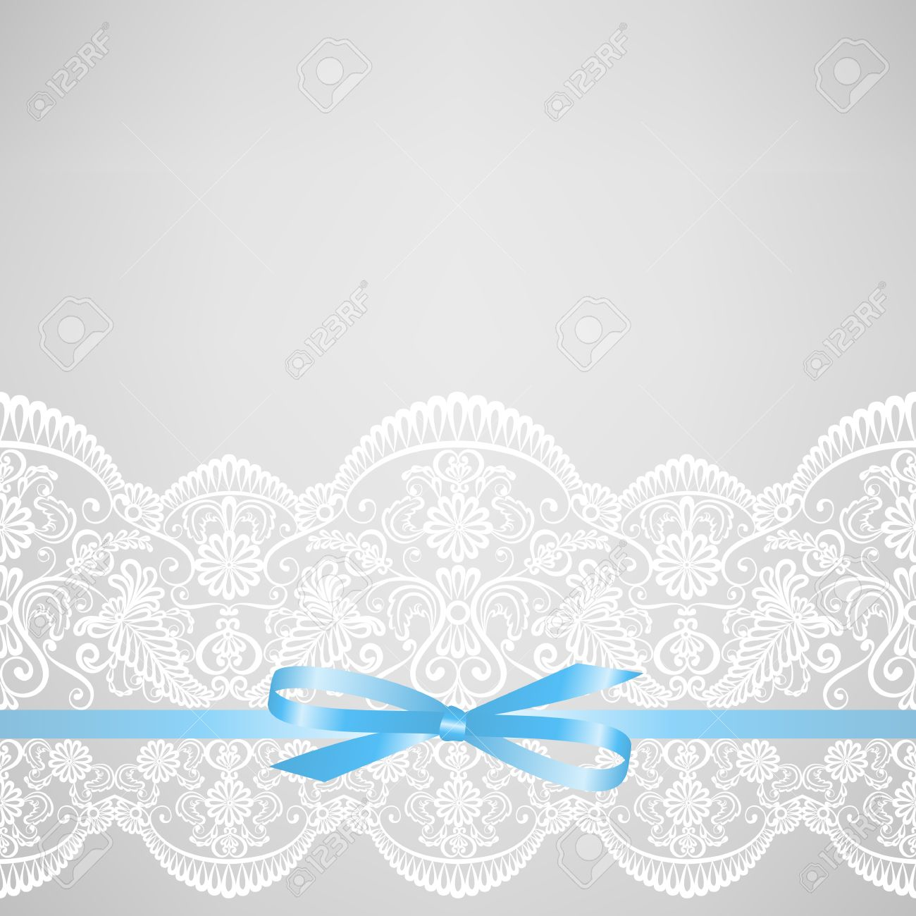 Wedding or baby shower invitation or greeting card with lace vector wedding or baby shower invitation or greeting card with lace on gray background filmwisefo