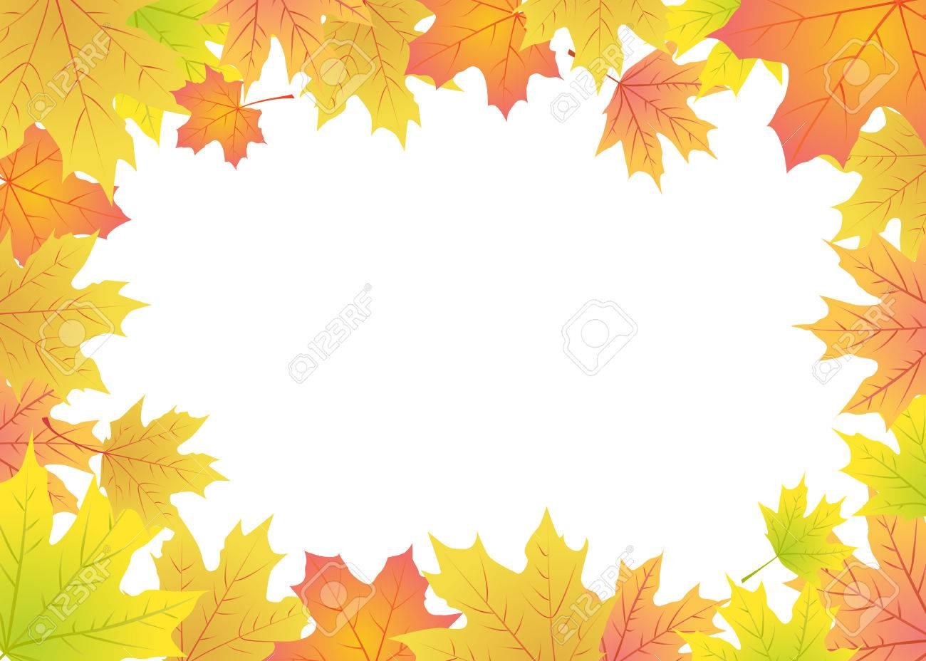 Autumn Maple Leaves Frame With Place For Text Royalty Free Cliparts ...