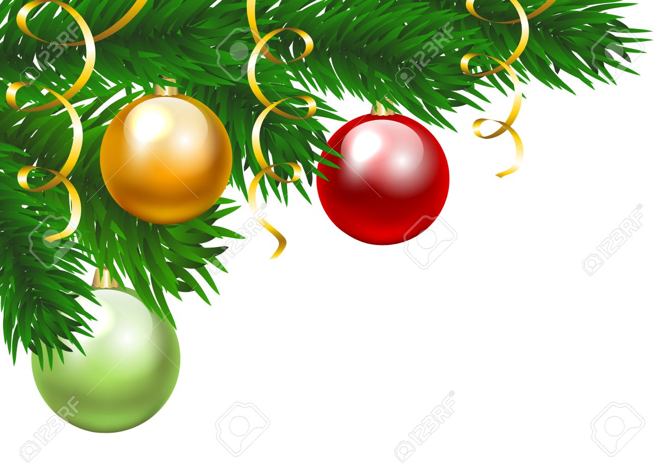 christmas tree branch with three colorful baubles clip art royalty rh 123rf com  christmas tree branches clip art free