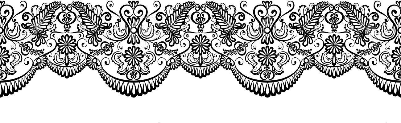 black lace border isolated on white clip art royalty free cliparts