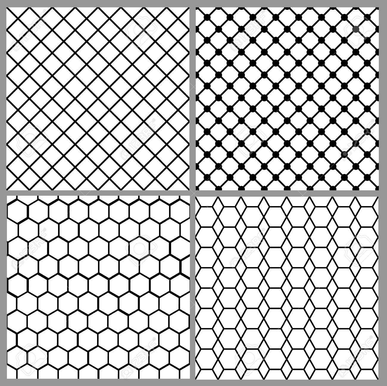 54a31cae5a02 Set von nahtlosen Netz Muster für Spitzen-Design Standard-Bild - 61007777