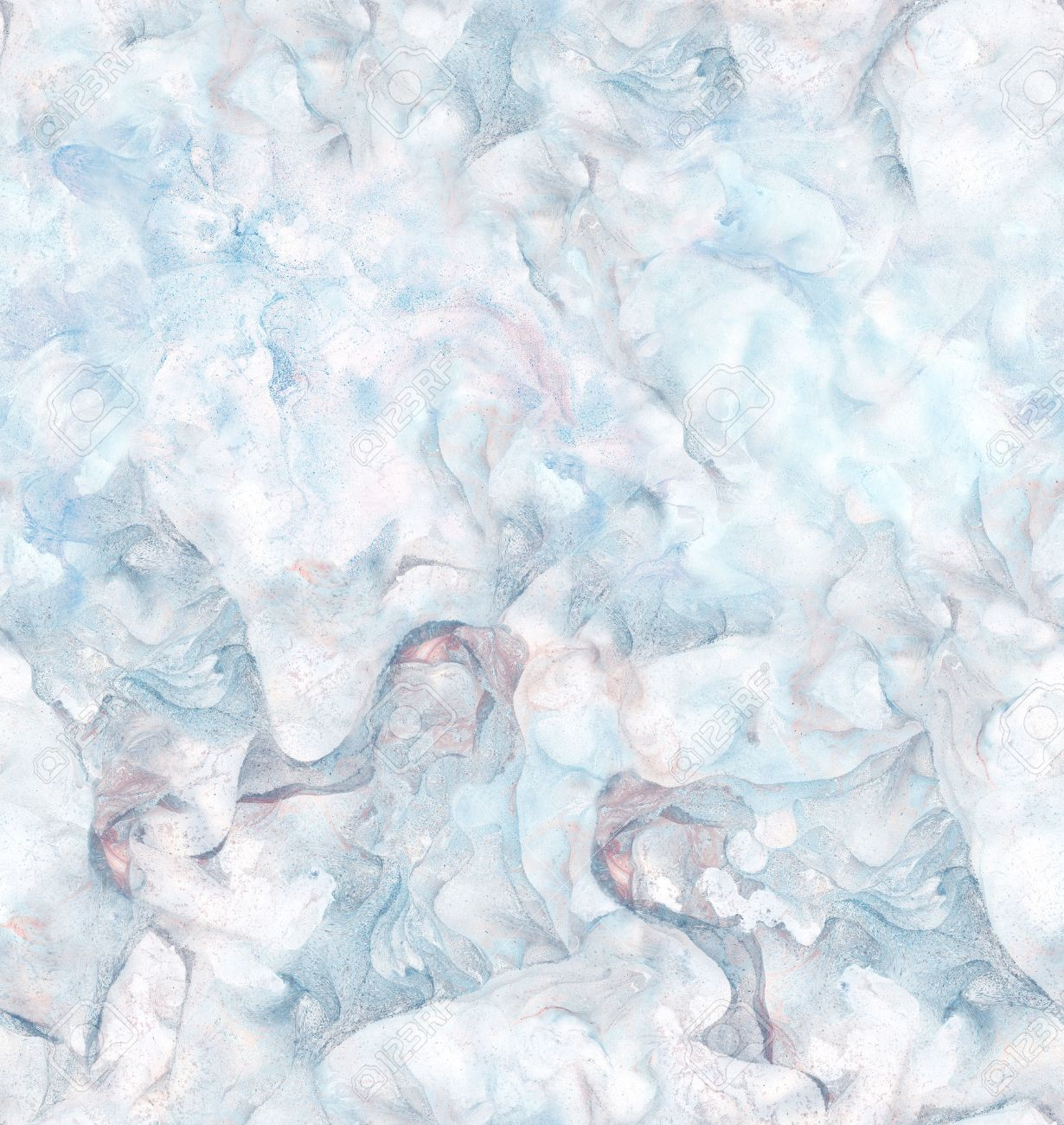 Background With Marbled Paper Texture In Blue And Pink Colors Stock