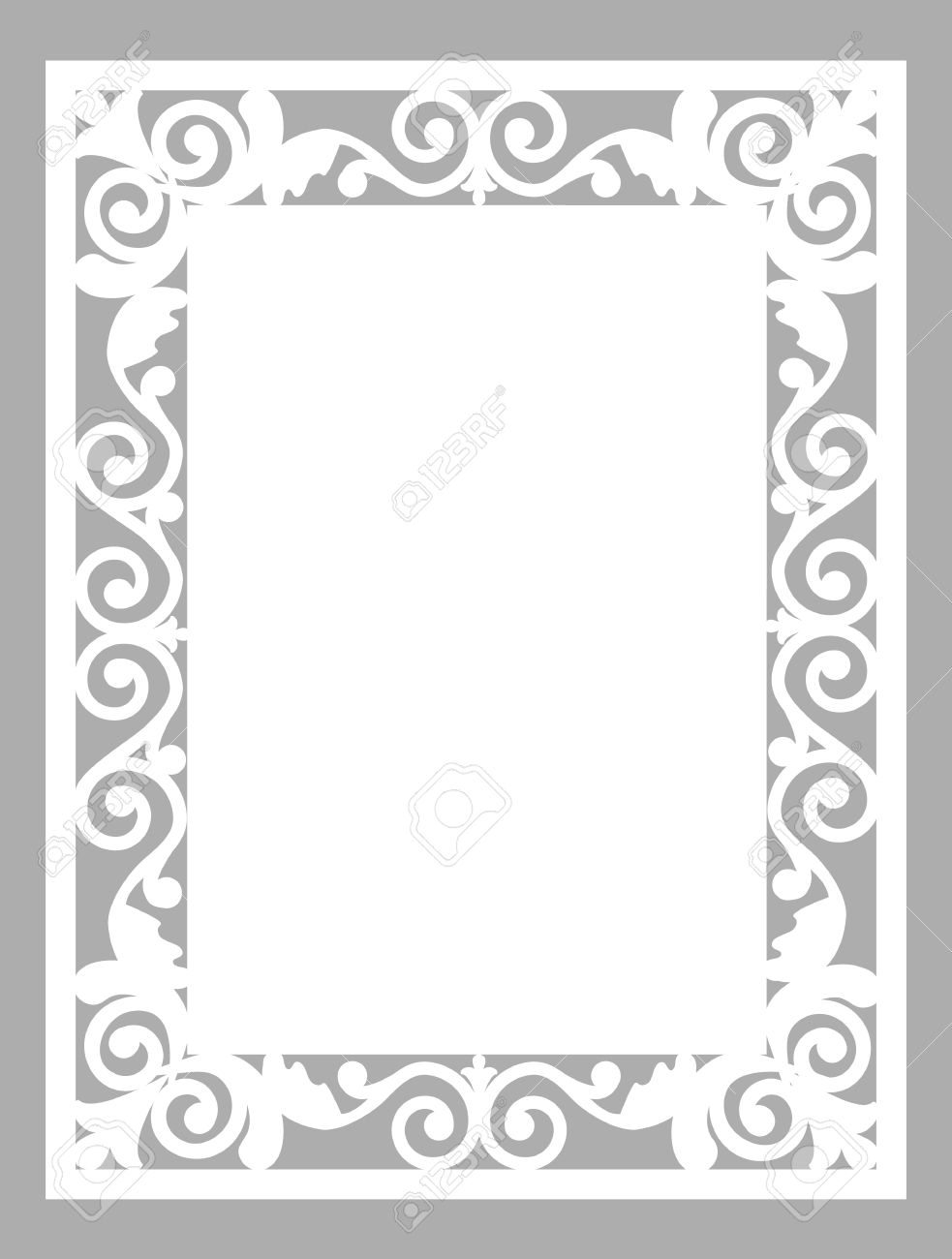 pattern frame template for laser cut card royalty free cliparts