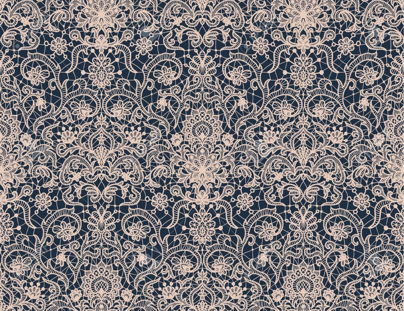 Seamless white lace - 110107999
