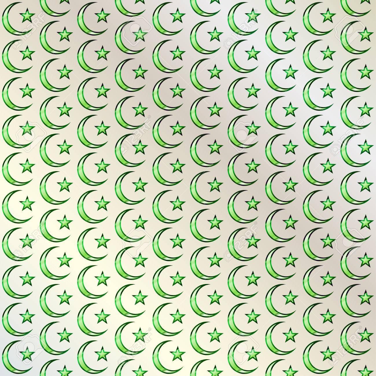 Modelo Islámico Arte Musulmán La Media Luna Y La Estrella Ornamento árabe Tradicional Las Tradiciones Religiosas Fondo Elegante Para Las