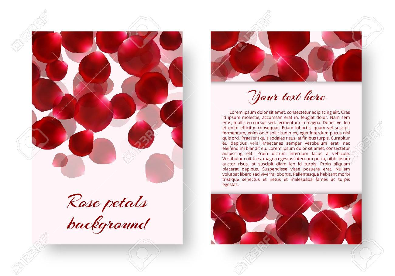Template Of A Holiday Greeting Card For Love Greetings With Rose