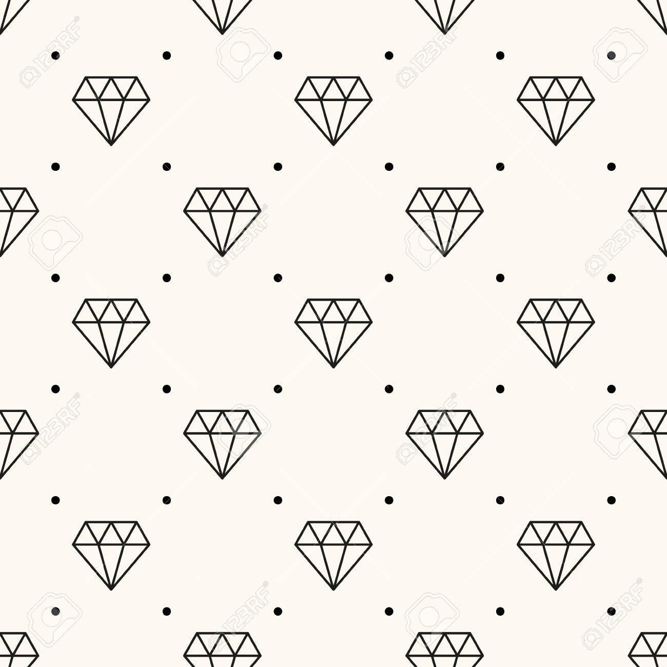 Vector seamless retro pattern, with diamonds. Stock Vector - 26263204