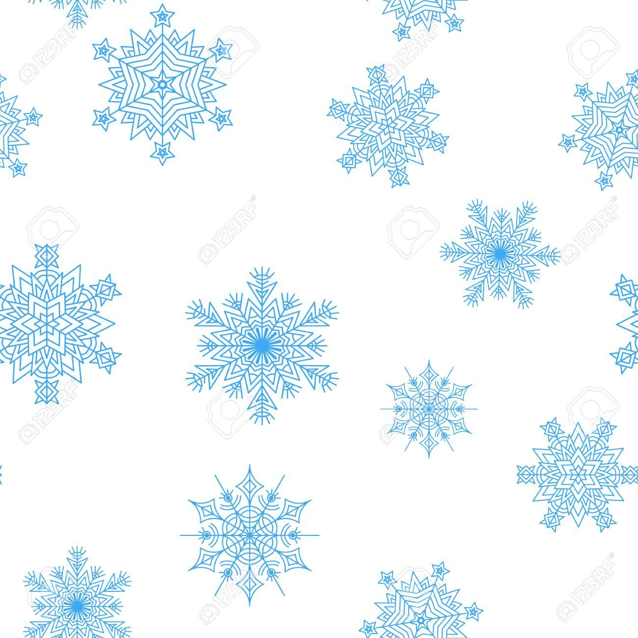 Schneeflocken Nahtlose Muster Für Weihnachten Verpackung Textilien ...
