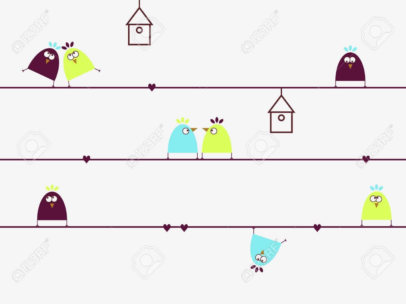Crazy birds Stock Vector - 5078082