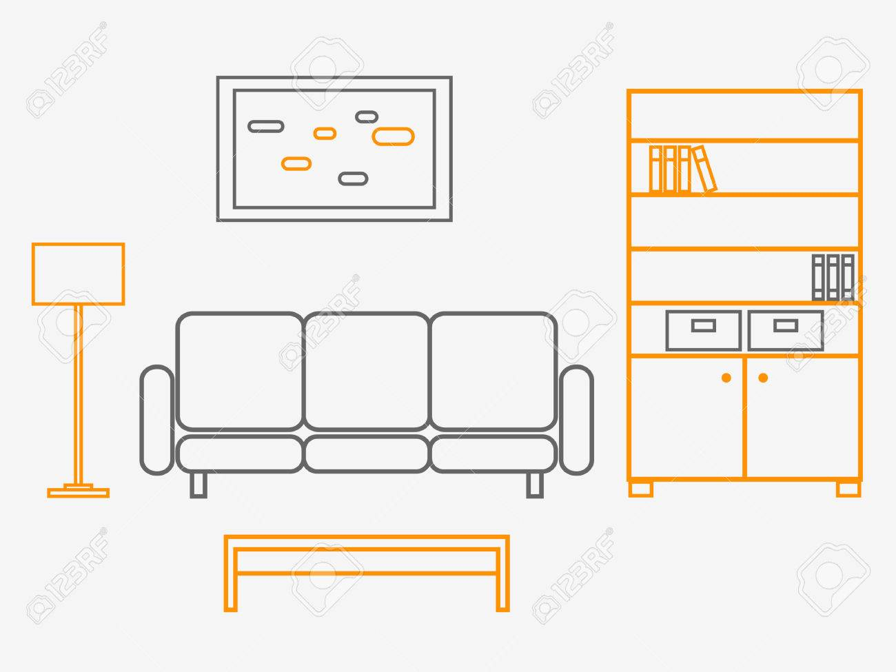 Living Room Stock Vector - 5581619