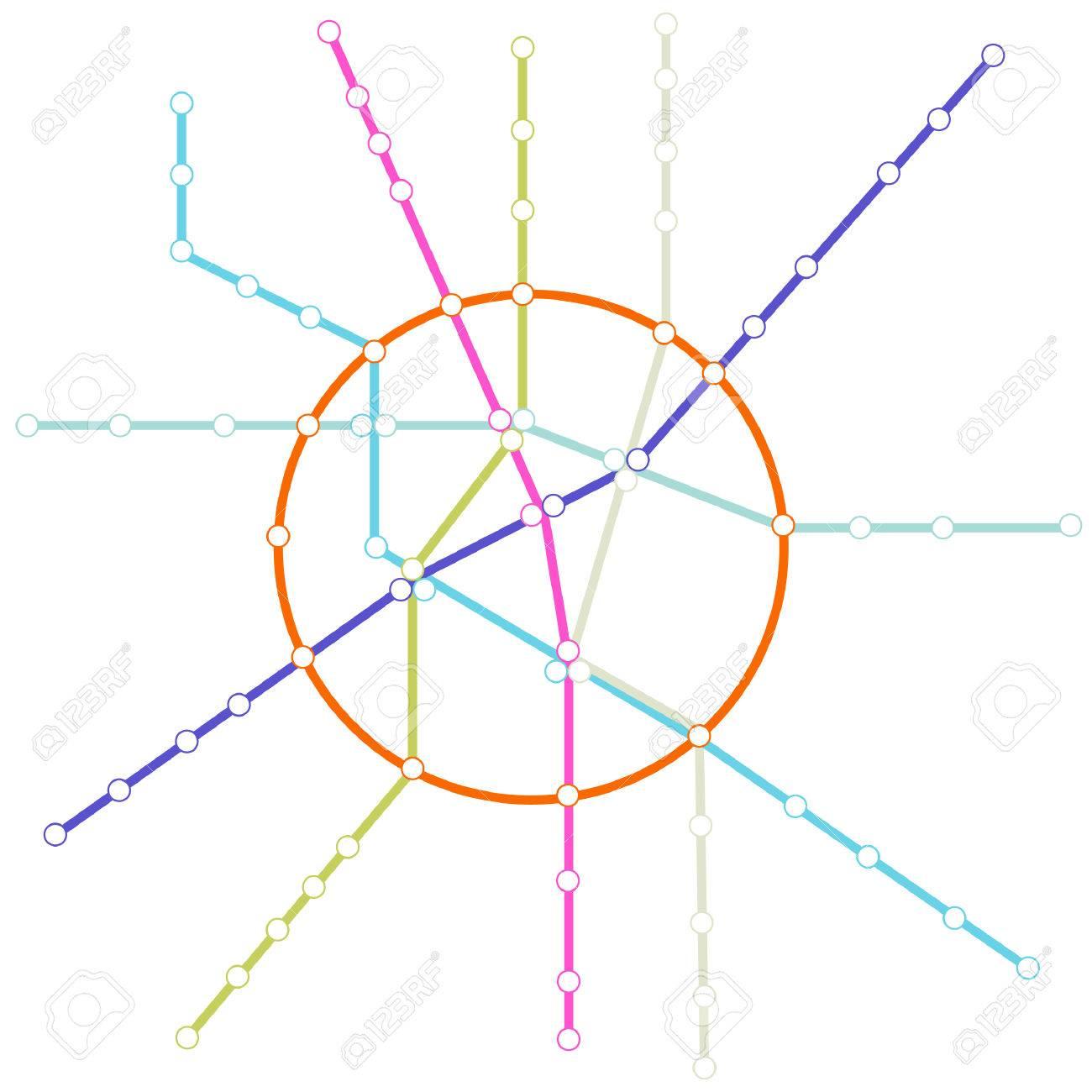 地下鉄の路線図のイラスト素材ベクタ Image 6073044