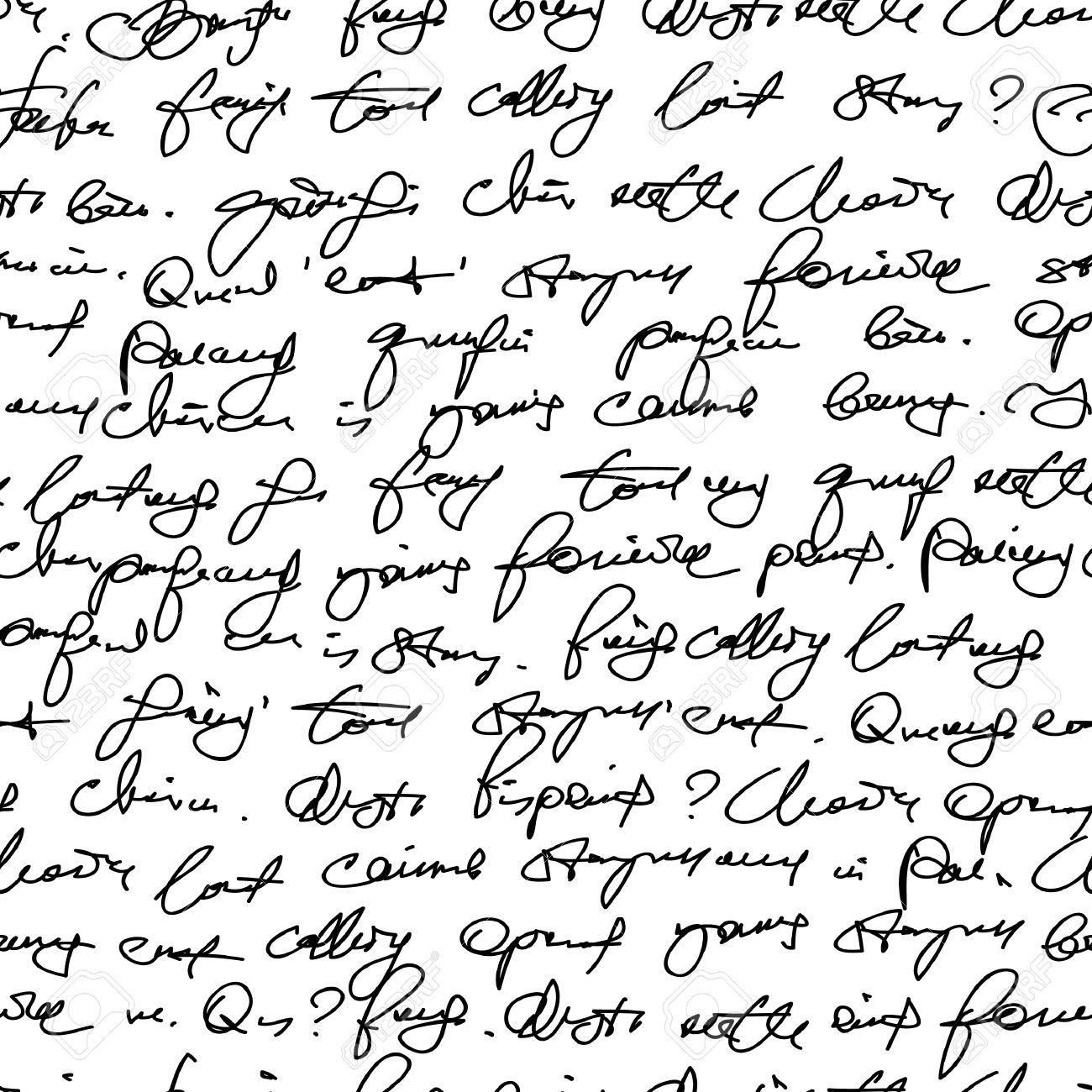 Fake handwriting. Seamless pattern Stock Vector - 6594557