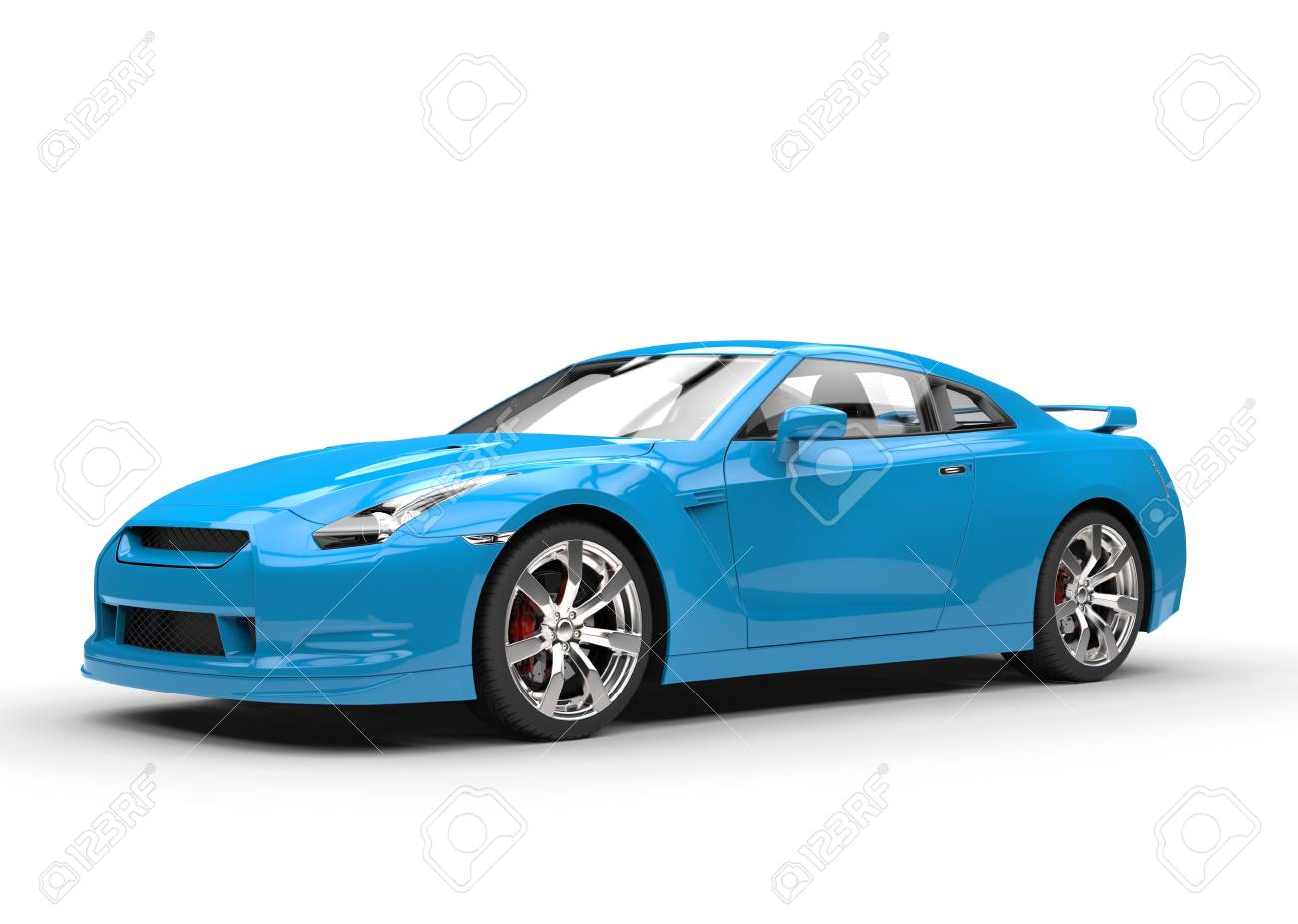 Light Blue Cool Car Stock Photo Picture And Royalty Free Image - Cool car models