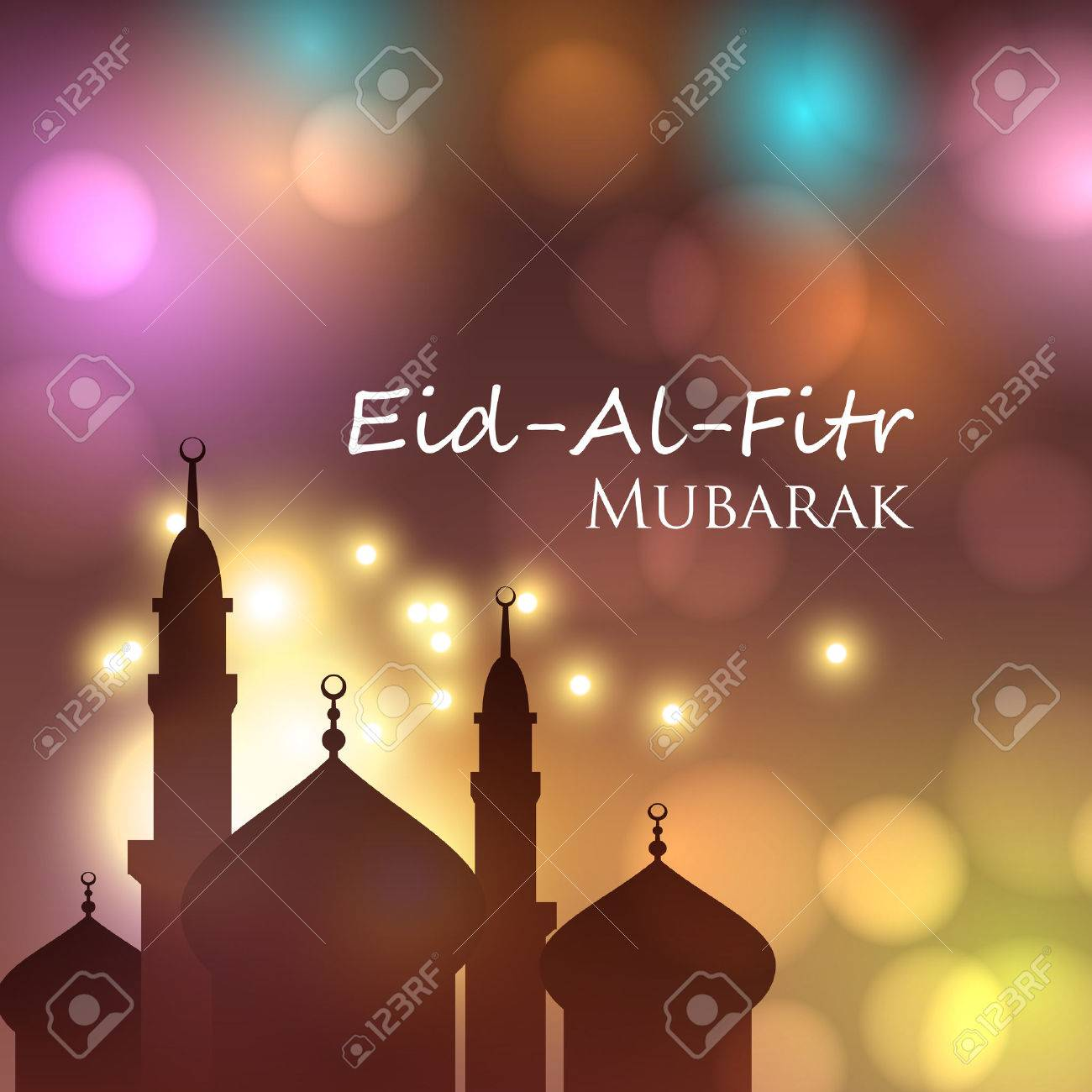 Vector Card For Muslim Festival Eid Al Fitr Mubarak Can Be Used