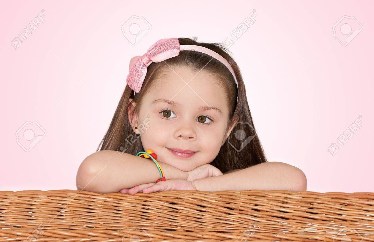 cute little girl looks in the direction Stock Photo - 11781175