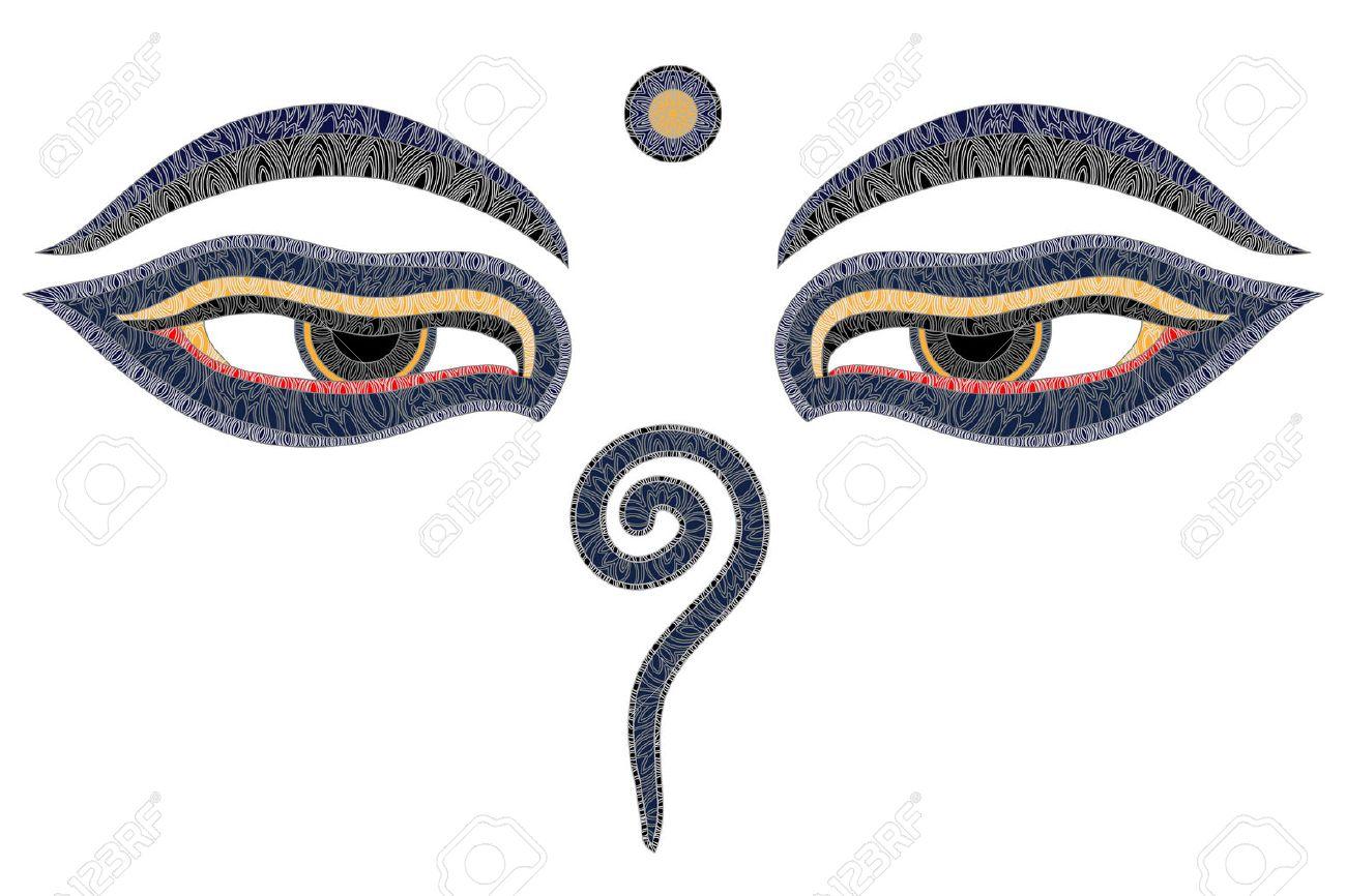 Buddha eyes nepal symbol of wisdom and enlightenment royalty buddha eyes nepal symbol of wisdom and enlightenment stock vector 51633055 buycottarizona