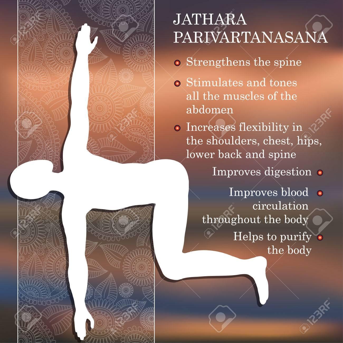 Pose De Yoga Infografía, Los Beneficios De La Práctica Jathara ...