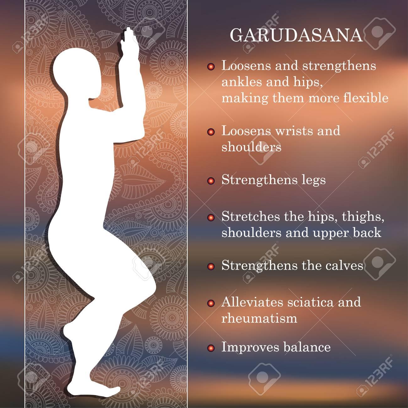 Pose De Yoga Infografía, Los Beneficios De La Práctica Garudasana ...