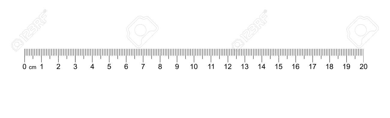 Ruler 20 Cm Measuring Tool Ruler Graduation Ruler Grid 20 Cm Size