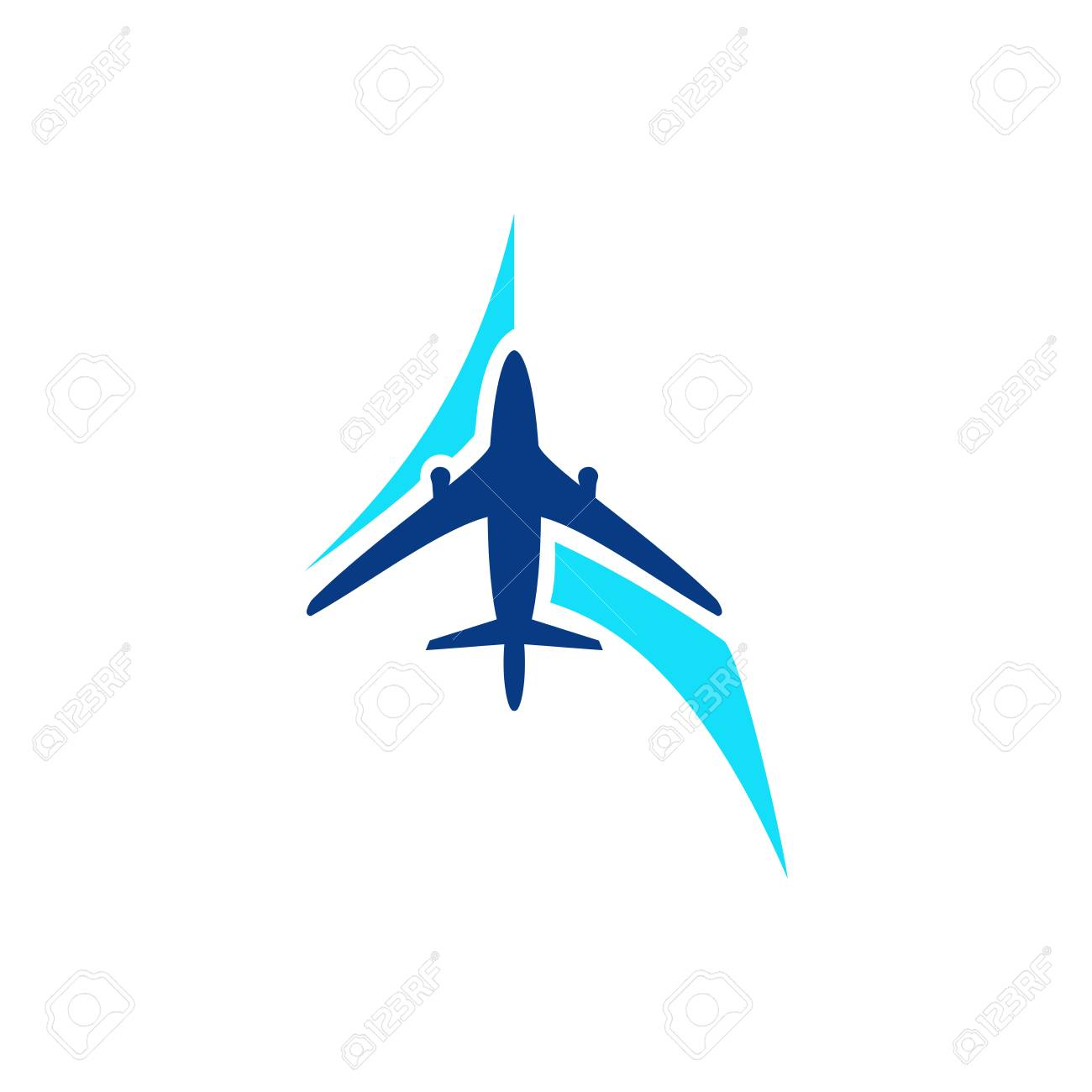 airplane symbol vector airplane logo template aircraft silhouette