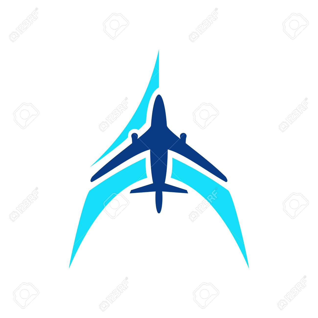 Airplane Symbol Vector Airplane Logo Template Aircraft Silhouette Royalty Free Cliparts Vectors And Stock Illustration Image 102330279