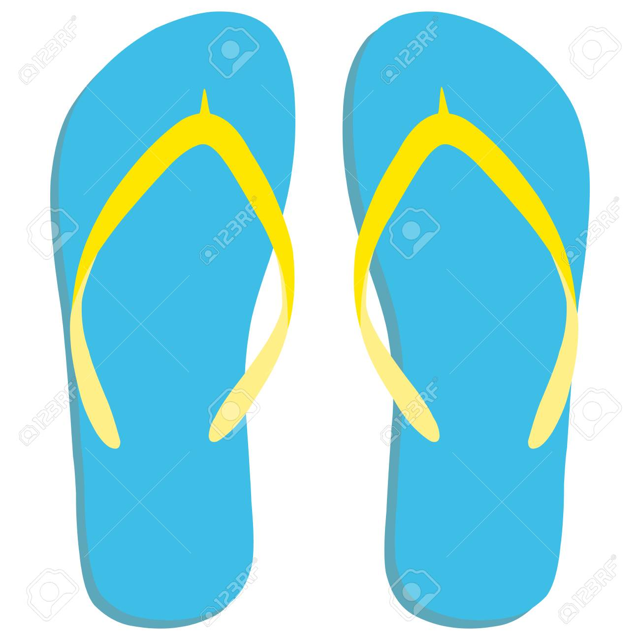 a89d399651dac Colored Flipflops Icon. Slippers Icon. Isolated Blue