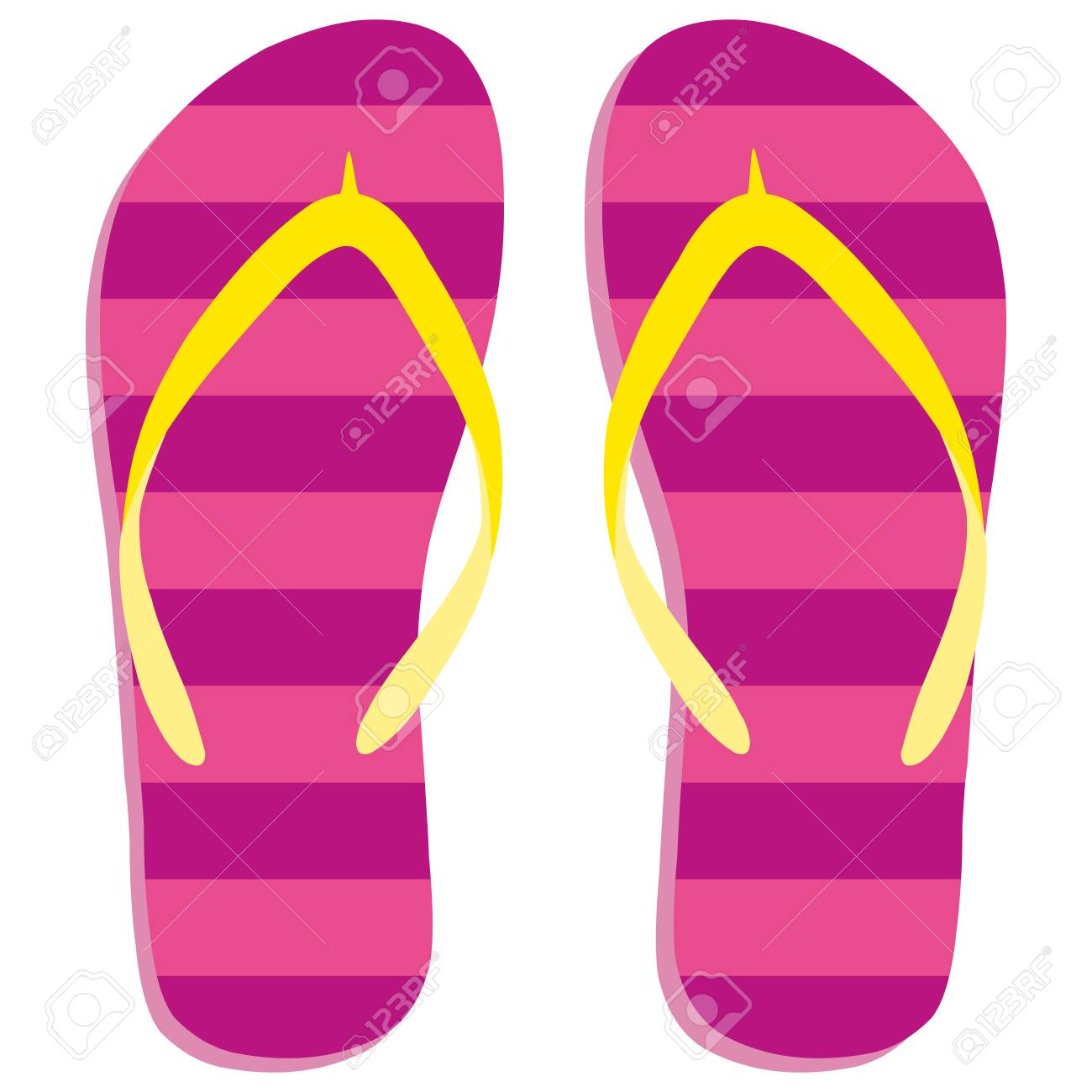 e5220778009d Colored Flipflops Icon. Slippers Icon. Isolated Pink
