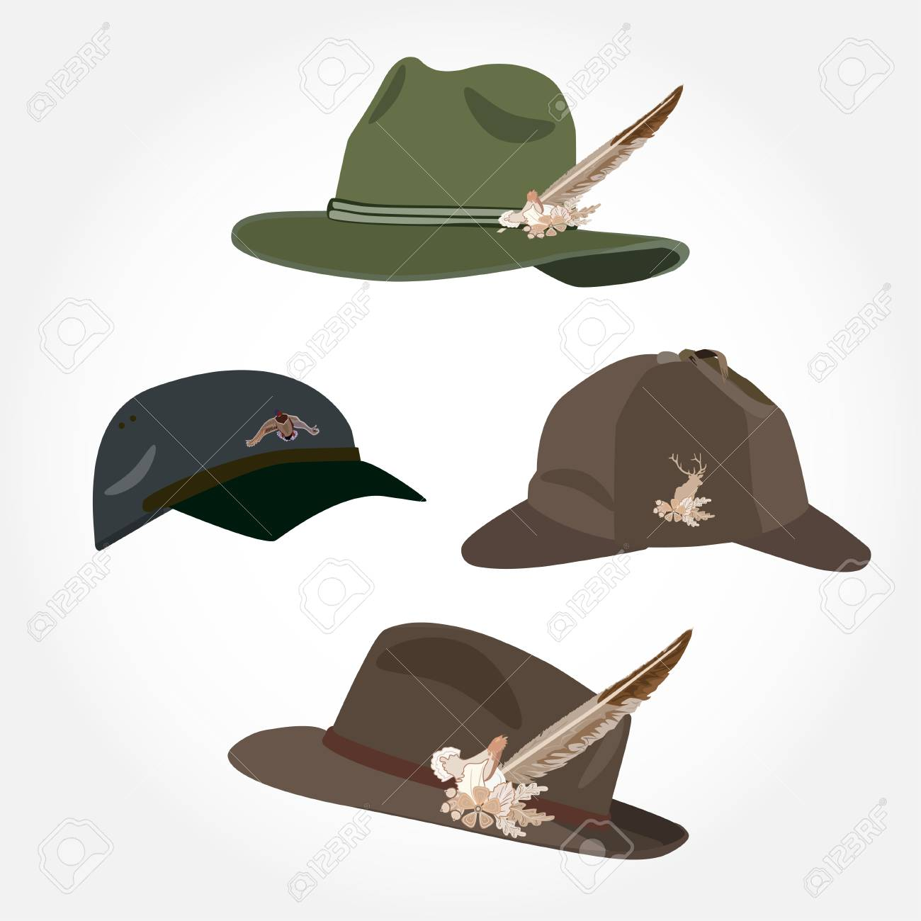 8c8855599c8 Vector - Vector set of mens hats