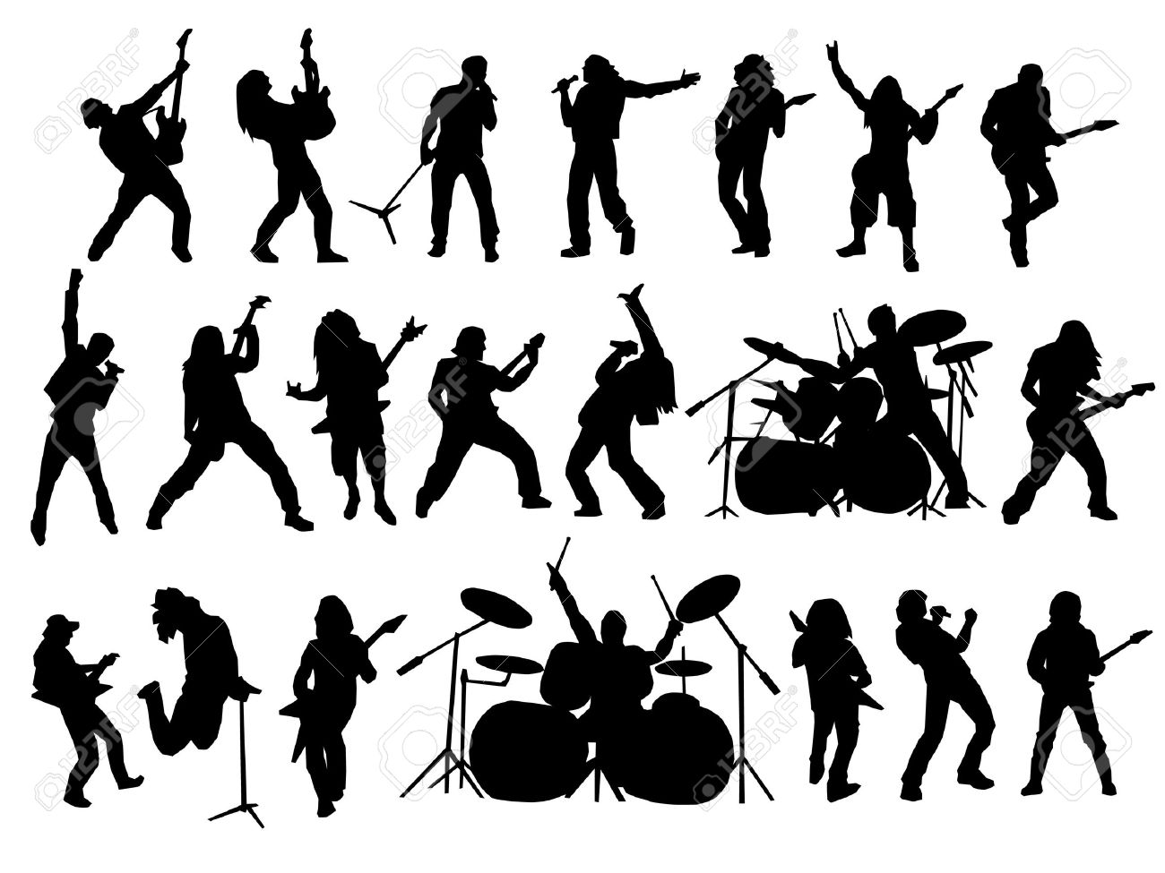 rock  band  silhouette  Rock Band Silhouette