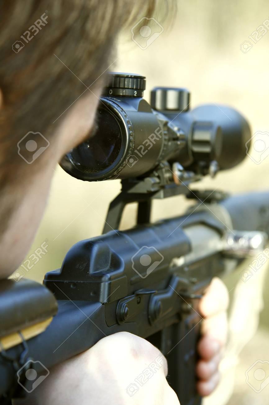 sniper aiming Stock Photo - 10376545