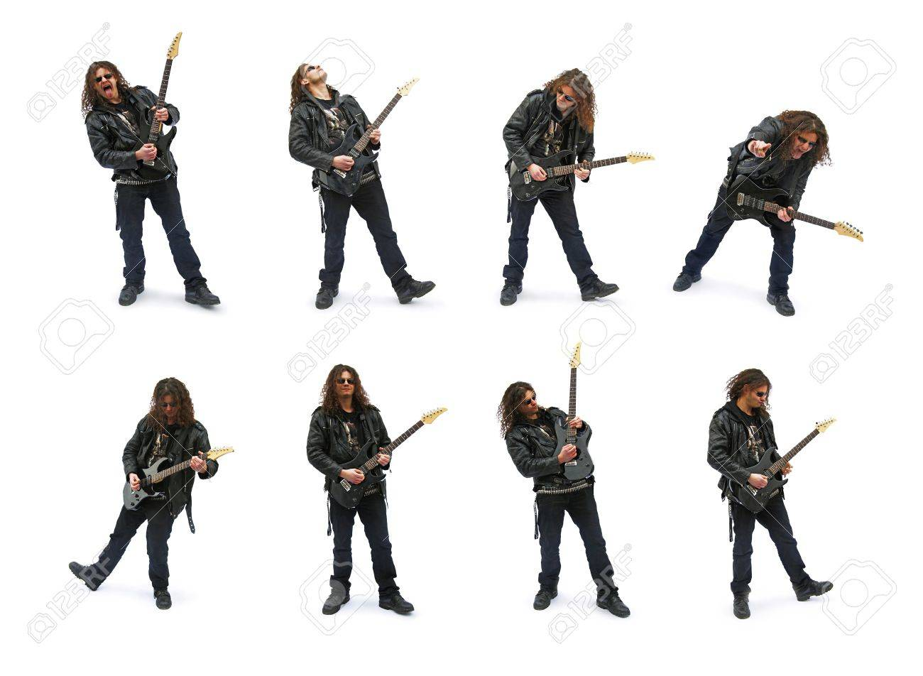 Isolated heavy metal player, playing on guitar Stock Photo - 10711924