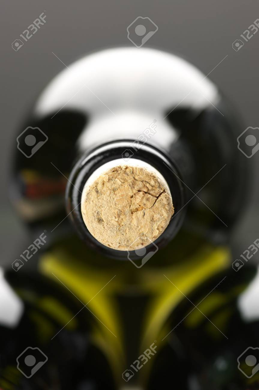Close-up of closed wine bottles lying on dark background. Stock Photo - 7949901