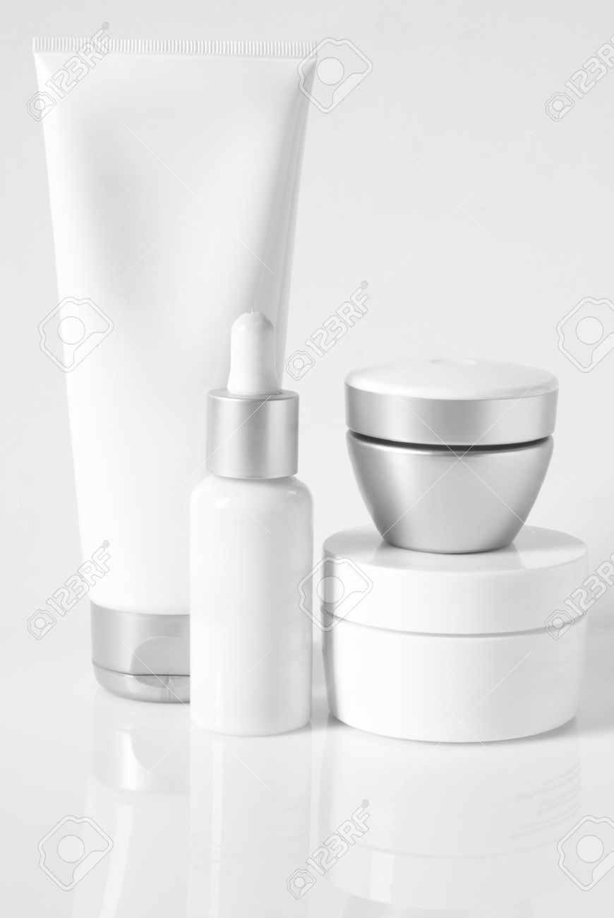 Cosmetic antiaging line on light background. High key. Stock Photo - 9663369