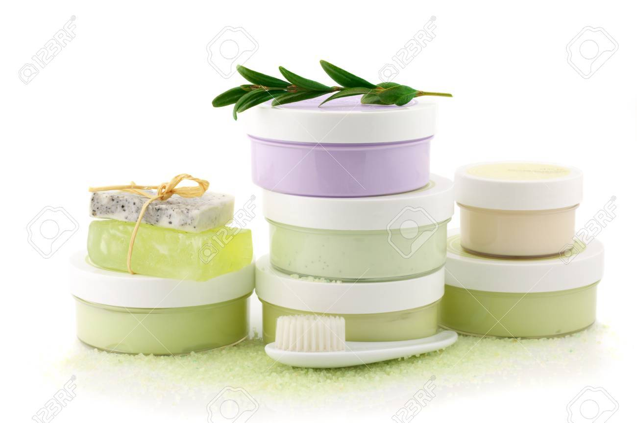 Set of various SPA cosmetics isolated on white background. Stock Photo - 9998863