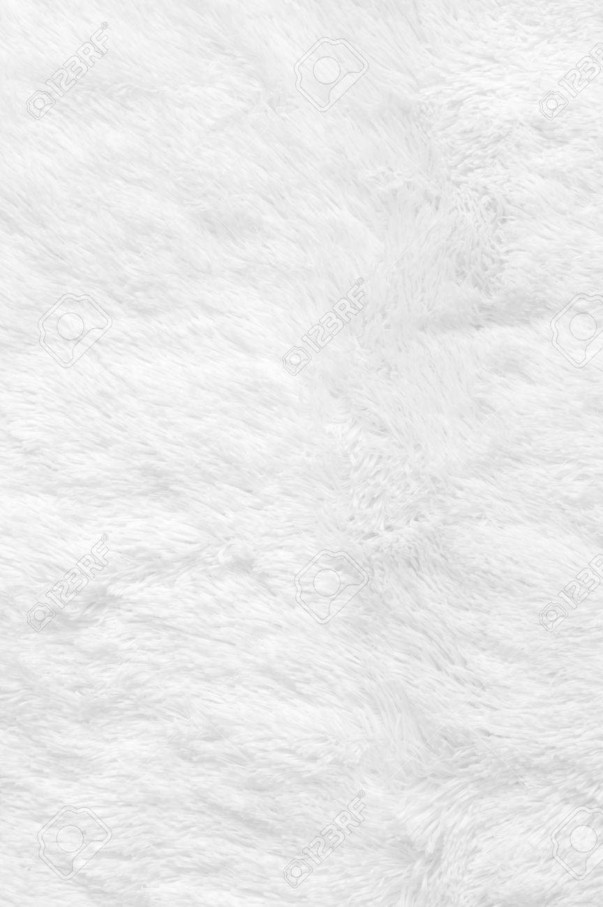 Fantastic White Shaggy Blanket Texture As Background. Fluffy Fake Textile  GJ04