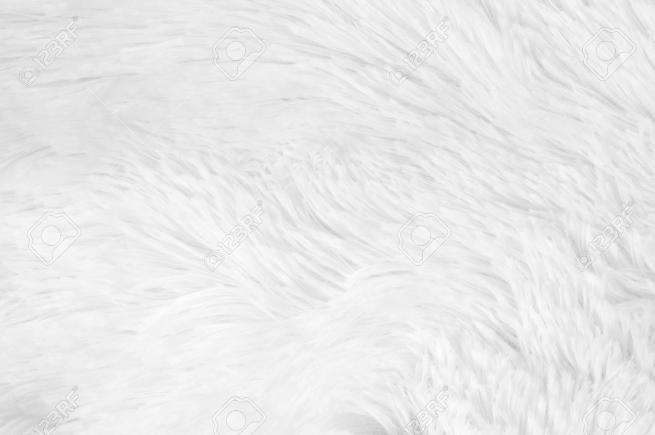 Well-liked White Shaggy Blanket Texture As Background. Fluffy Fake Textile  FO57