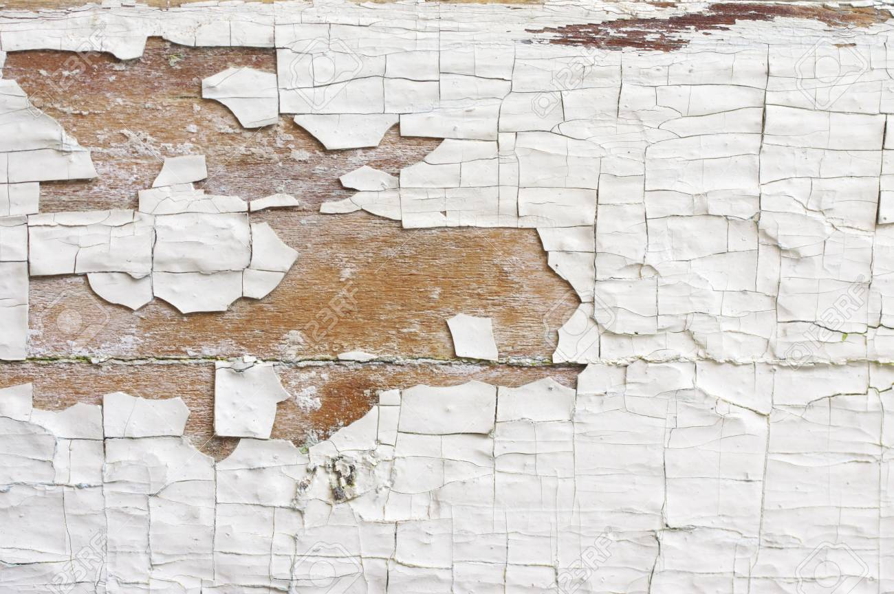 Extreme Distressed Peeling White Painted Wood Texture Close Up As Background Stock Photo