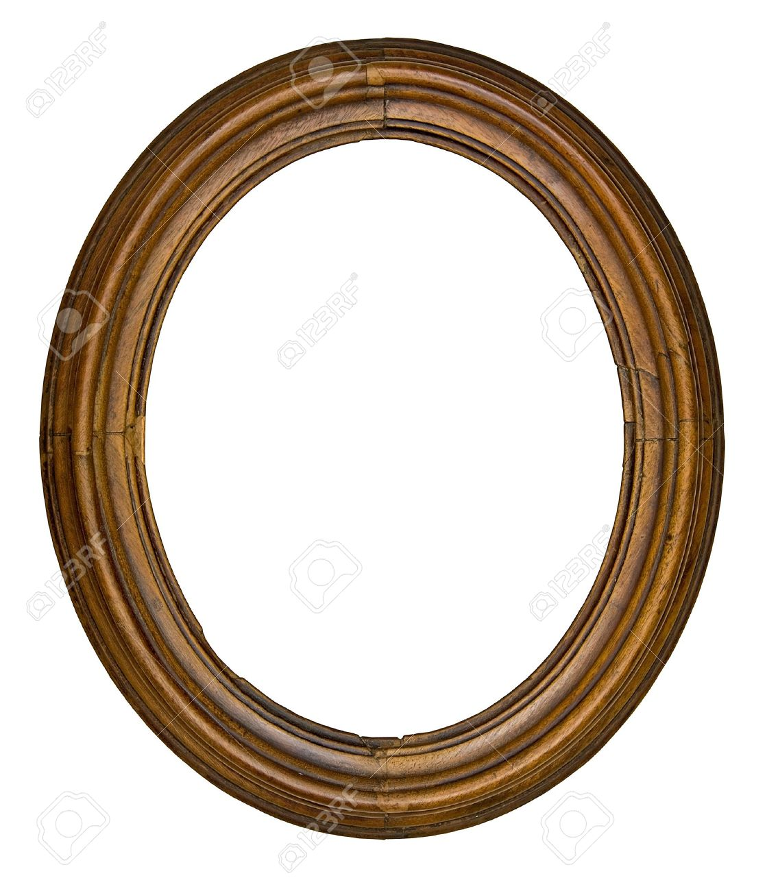 Vintage wooden oval frame isolated over white background stock vintage wooden oval frame isolated over white background stock photo 4208566 jeuxipadfo Gallery