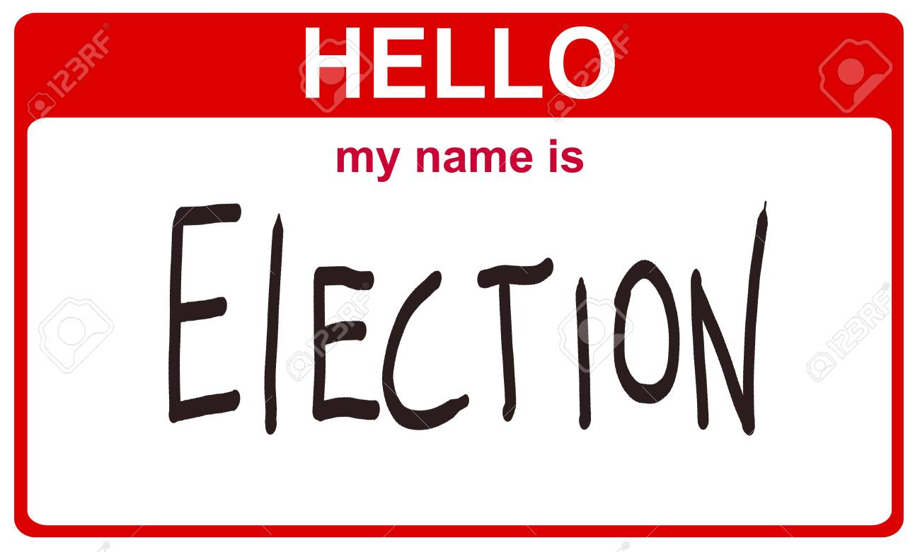 red sticker hello my name is election concept Stock Photo - 8038077