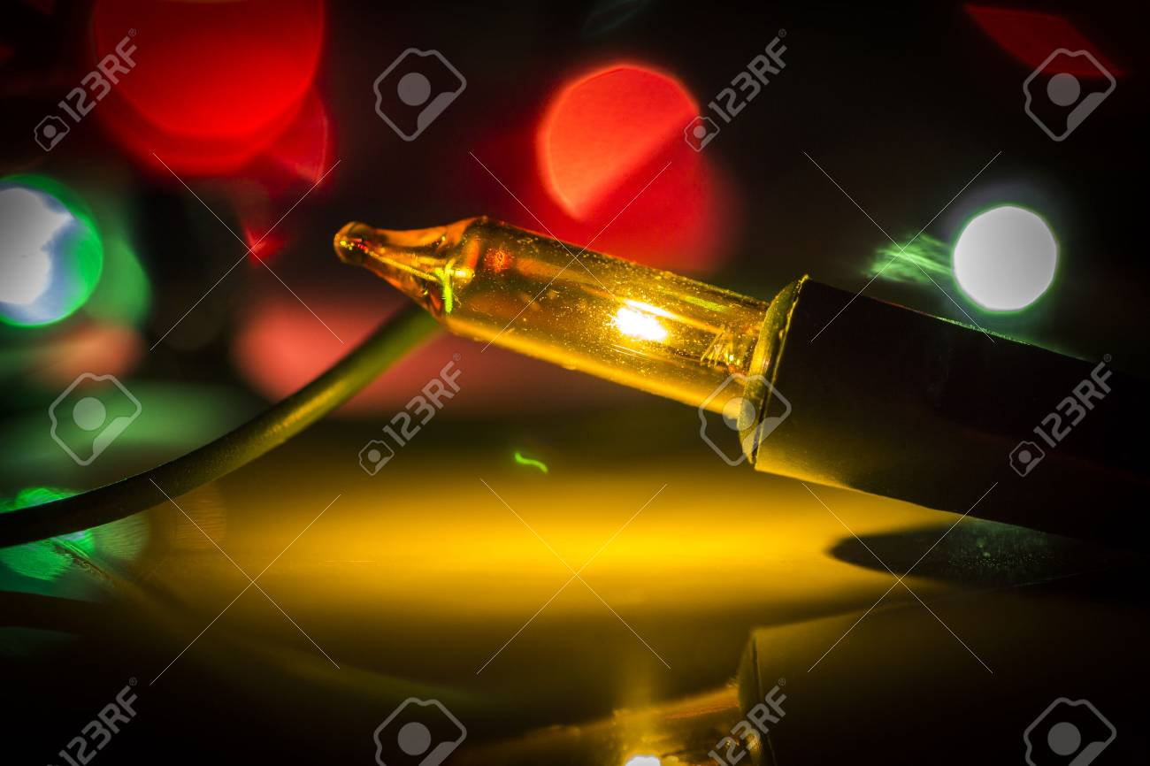 colored christmas lights close up as an abstraction stock photo 68298453