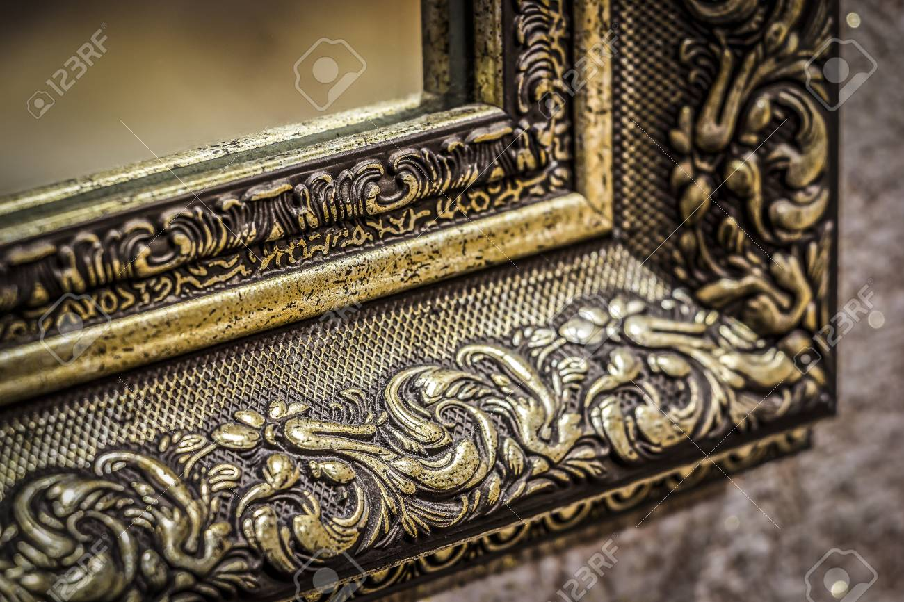 Part Of The Ornate Carved Mirror Frame In Ancient Style Stock Photo Picture And Royalty Free Image Image 86925424