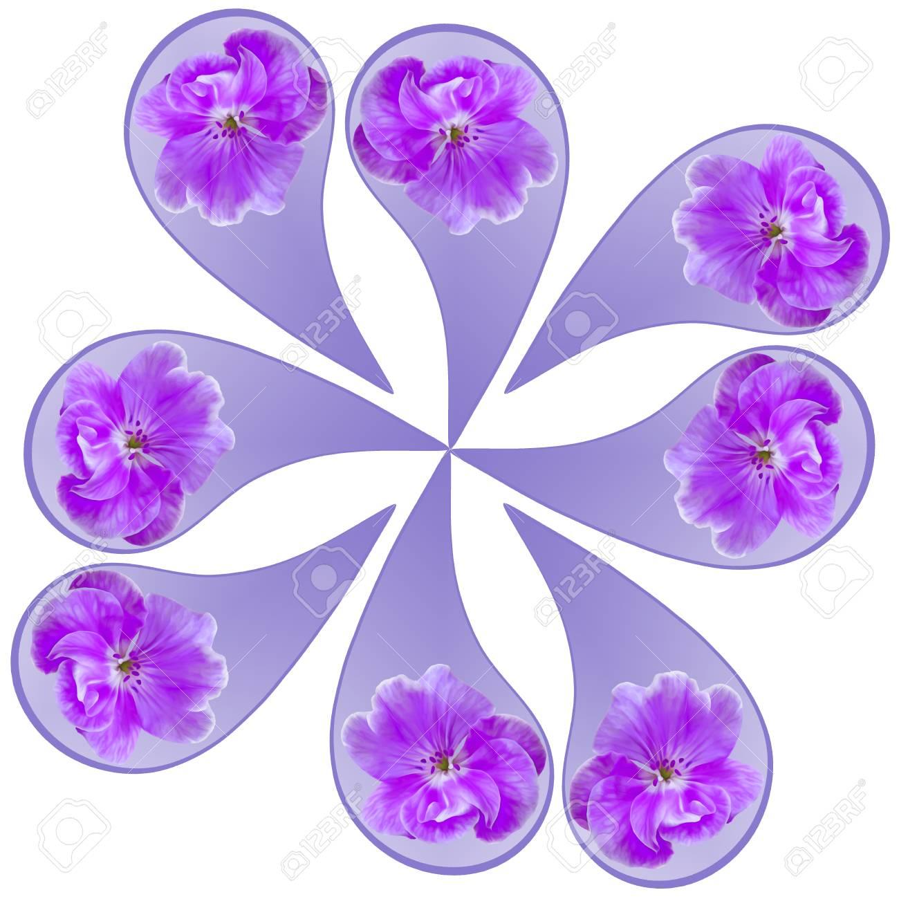 Ornamental Pattern Mandala With Floral Elements Mandala Symbol