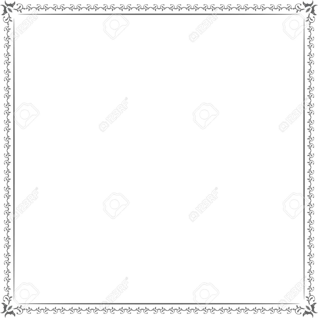 正方形の白い枠とテキスト飾りビ...