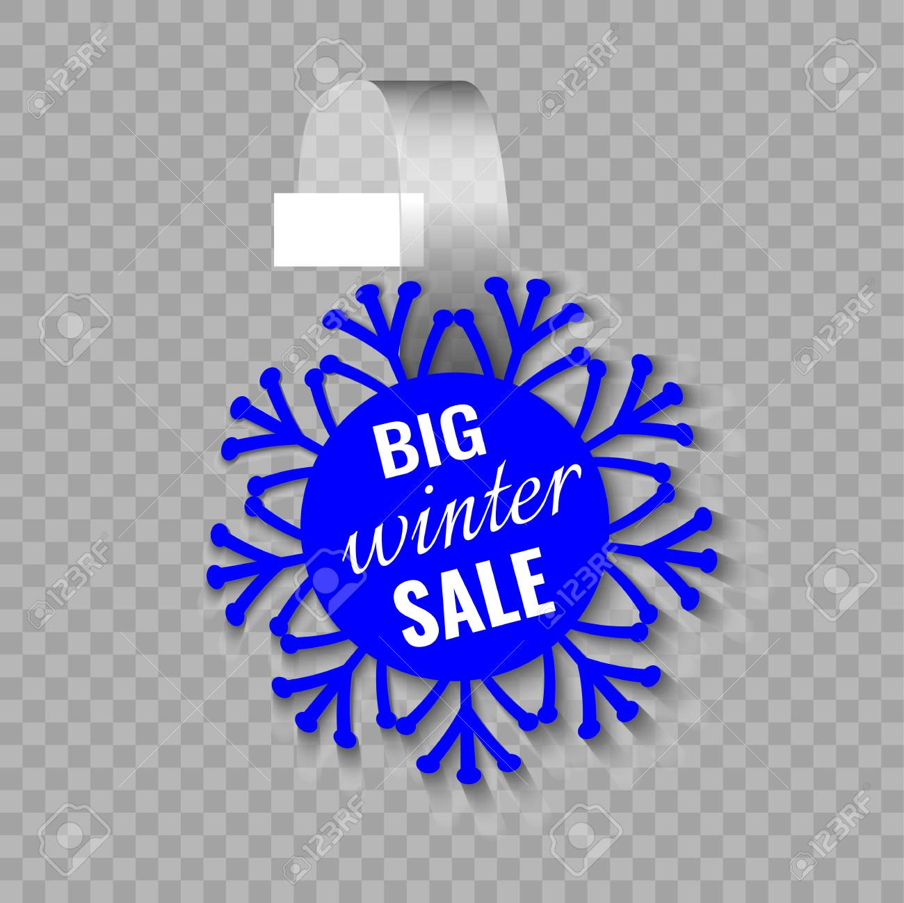 Wobbler Or Sales Stickers Winter Sale Supermarket Shelf Wobbler