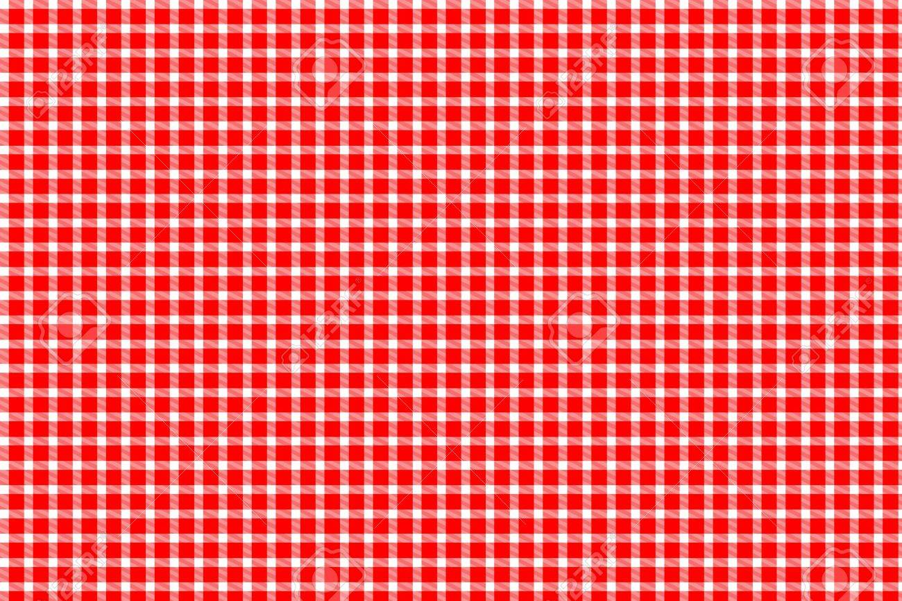Red And White Gingham   Tablecloth Texture Stock Photo   12470866